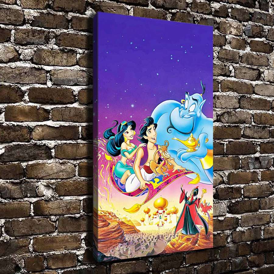 A989 Princess Jasmine children cartoon movies ,HD Canvas Print Home decoration Living Room bedroom Wall pictures Art painting