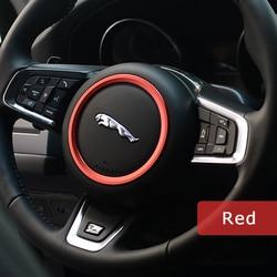 DSYCAR en alliage de Zinc voiture volant décoration anneau autocollant logo décalcomanies voiture style Modification pour Jaguar XF XE F-PACE F-TYPE