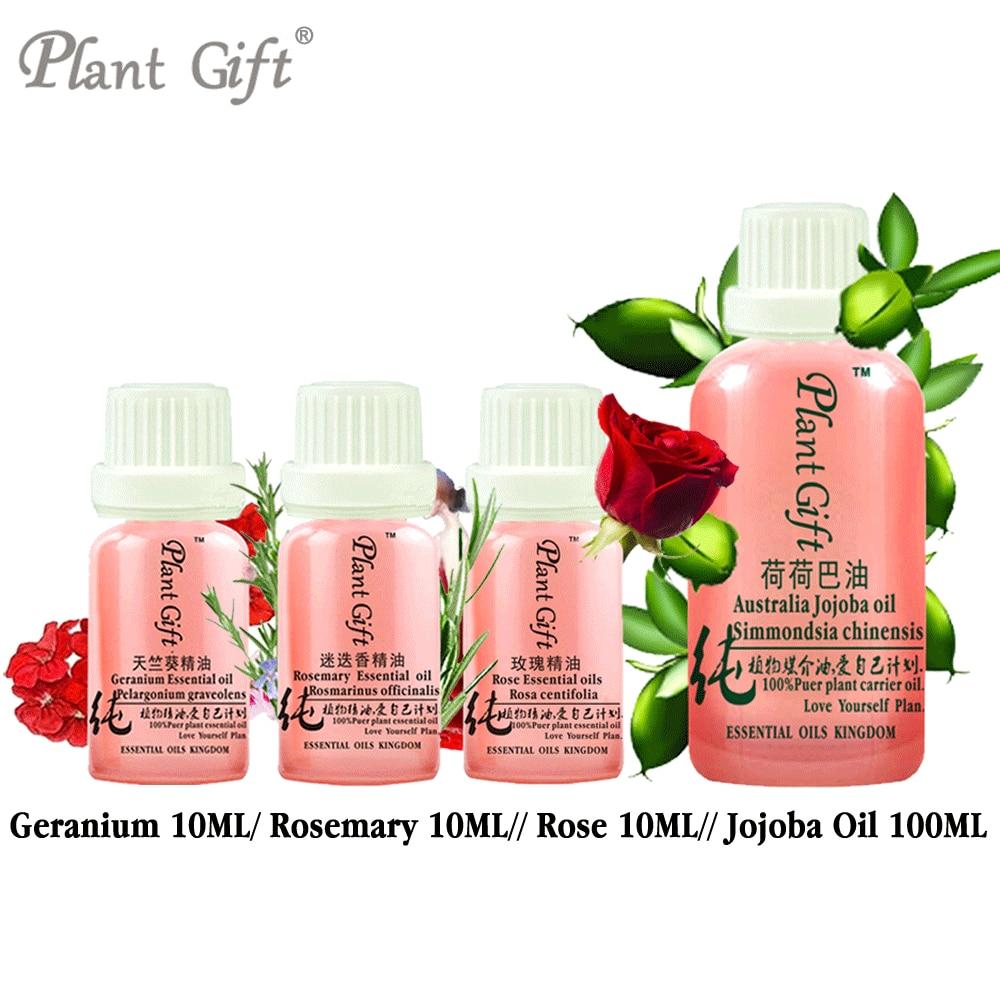 цена на 100% Pure Plant Essential Oils French Imports Geranium / Rosemary / Rose / Jojoba Oil Hemostasis Antibacterial Antiphlogistic
