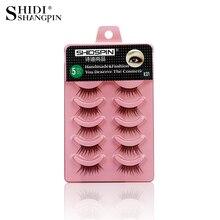 5 Pairs Women Ladies Makeup Half Lashes Natural False Eyelashes Semi Eye Lashes Eyelash Extension Make Up Tools