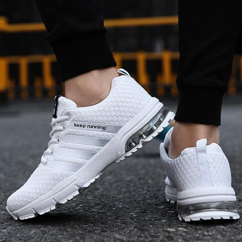 Summer shoes men sneakers 2019 fashion flat with mesh casual shoes breathable sneakers men shoes lace-up couple sports shoes Islamabad