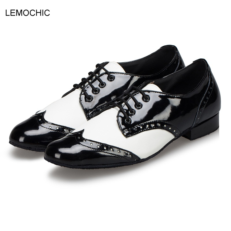 LEMOCHIC comfortable flamenco latin samba rumba cha-cha double steps arena classical newest performance male men dance shoe купить