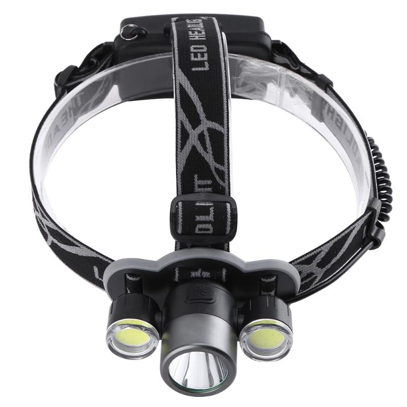 T6 COB LED 5 Mode Zoom Headlamp Headlamp Energy Saving Super Bright Outdoor Headlight Flashlights Torch Lamp LED Head Light Lmap new 003a 3 mode white zoom led headlamp black 4 x aa