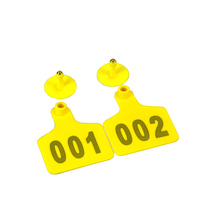 100PC Cattle Ear Tag Signs With Word Ear Tags Typing Copper Head Earrings Farm Animal Identification Card
