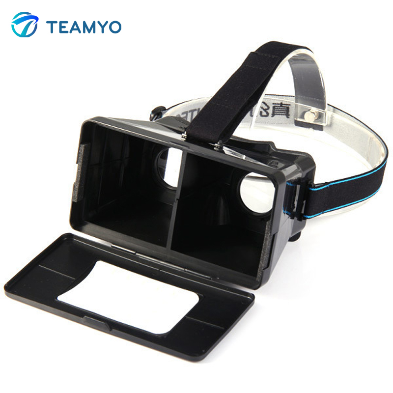 <font><b>RITECH</b></font> 3D <font><b>Magic</b></font> <font><b>Box</b></font> <font><b>Universal</b></font> <font><b>VR</b></font> <font><b>Smart</b></font> <font><b>Phone</b></font> 3D Glasses Private Theater For iPhone 6 / 5 For Samsung HTC - BLACK
