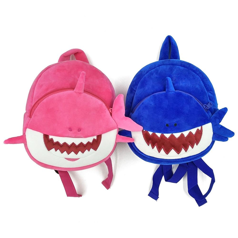 Dropshipping Baby Plush Shark Kids Backpacks for Boys Cartoon Animal School Bags Mini Schoolbag Toddler Girls School Backpack