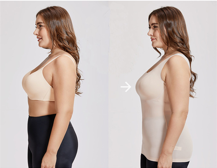 Body Shapers Most body shapers are made like a tank-style swimsuit, so they're sometimes called all-in-ones. Some have built in bras and others are open bust, so you can wear your favorite bra. These smooth your entire torso and stay in place very well, just like a swimsuit would. The styles that do the serious shaping usually have power mesh linings.