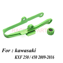 Chain Slider Guide Swingarm Roller chain set For  KXF250 KXF450 KX250F KX450F KXF 250 450 Motorcycle 2009-2016 swingarm chain slider with guard guide roller for kxf kx250f kx450f 09 16 dirt bike off road motocross motorcycle free shipping