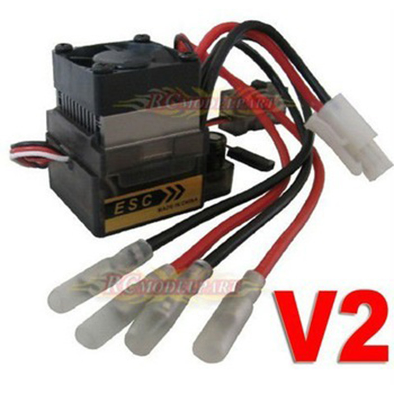 7.2V 16V 320A High Voltage V2 Brushed ESC with Tamiya head for RC On-road Car Truck new 7 2v 16v 320a high voltage esc brushed speed controller rc car truck buggy boat hot selling