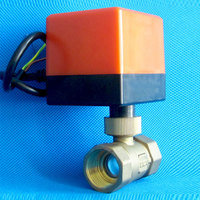 Micro Electric Motorized Brass Ball Valve DN15 AC 220V 2 Way 3 Wire with Actuator