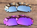 Хром Серебро & Фиолетовый 2 Пары Зеркало Поляризованных Сменные Линзы Для Jawbone Вентилируемый Солнцезащитные Очки Кадров 100% UVA и UVB Защиты