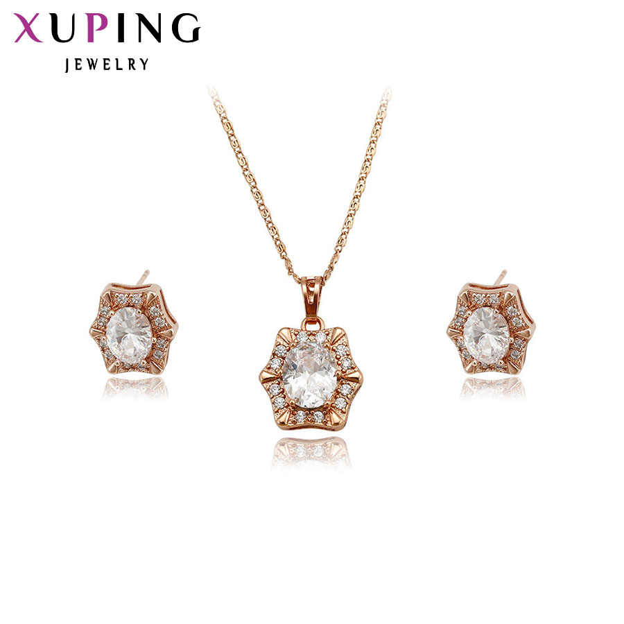 Xuping Fashion Jewelry Sets Fantastic Charm Women Sets Rose Gold Color Plated Wedding Gifts High Quality S10.1/S34.3-62395