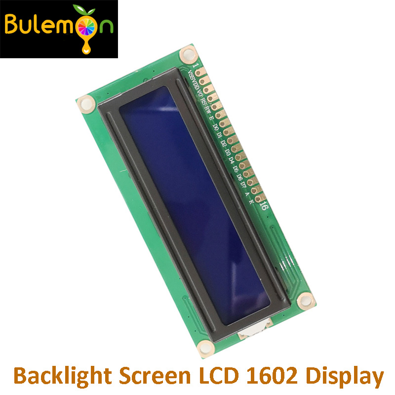 3.3V Blue Screen White Character LCD Module Blue Backlight Screen LCD 1602 Display For Electronic DIY LD002