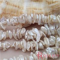 Wholesale Width 7 10mm Irregular Natural Freshwater Pearls Beads Slices Diy Jewelry Findings Roughly 140 Pieces