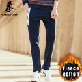 Pioneer Camp fashion autumn winter warm straight pants men brand male thick pants top quality fleece casual trousers men 699089