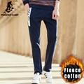 Pioneer camp moda outono inverno quente em linha reta calças dos homens da marca masculina calças de alta qualidade de lã grossa calça casual homens 699089
