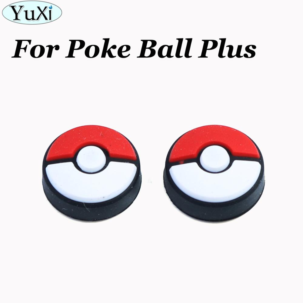YuXi 2X Silicone Analog Thumb Grips Caps Cover For Nintend Switch Joycon For Poke Ball Plus Go Controller Game Accessories