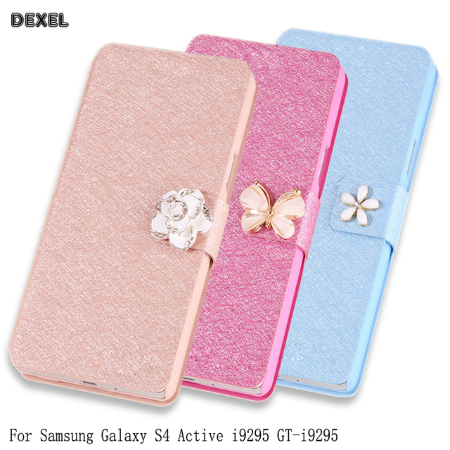 big sale fa2b0 b59fe PU Leather Flip Case For Samsung GALAXY S4 Active i9295 GT i9295 E470S i537  Phone Case PU Leather Cover Case with stand Holder-in Flip Cases from ...