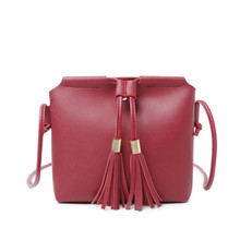 Fashion Handbag 2019 New Korean Version Of The Wild Tassel Bucket Bag Women's Shoulder Bag Crossbody Bags For Women Organizer все цены