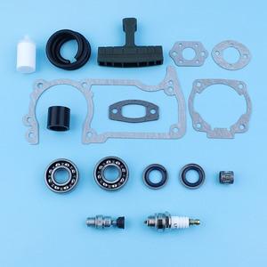 Image 3 - Crankshaft Bearing Oil Seal Decompression Valve Gaskets Set For Husqvarna 51 55 254 257 Chainsaw Fuel Line Filter Handle Grip