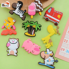 15pc/lot Cartoon animal Silica gel fridge magnets whiteboard sticker Refrigerator Magnets kids gift funny refrigerator Home deco