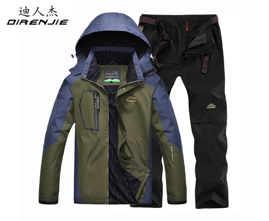 Aliexpress.com  Comprar DIRENJIE otoño pesca senderismo Camping Trekking  ropa deportiva traje chaqueta impermeable al aire libre de los hombres +  conjuntos ... 238c3209e3d
