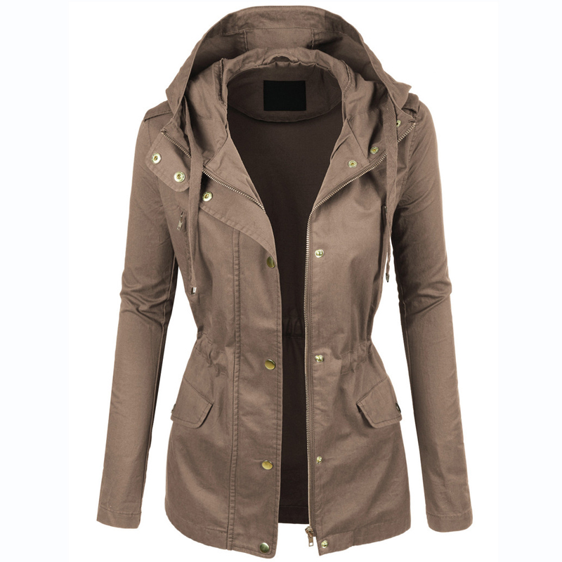 Aliexpress.com : Buy Womens Military Anorak Jacket With Hood ...
