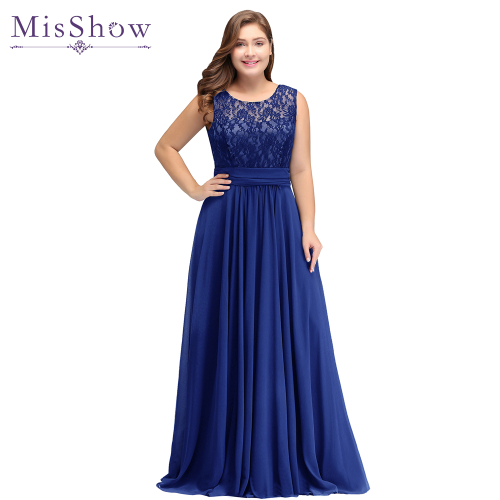 2 Styles Royal Blue Mother Of The Bride Dresses Plus Size A-line Chiffon Lace Long Elegant Groom Mother Dresses Wedding