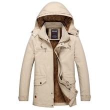 2018 Large Size 3 Colors Warm Outwear Winter Jacket Men Windproof Hood Men Jacket Warm Men Parkas Size L-5XL