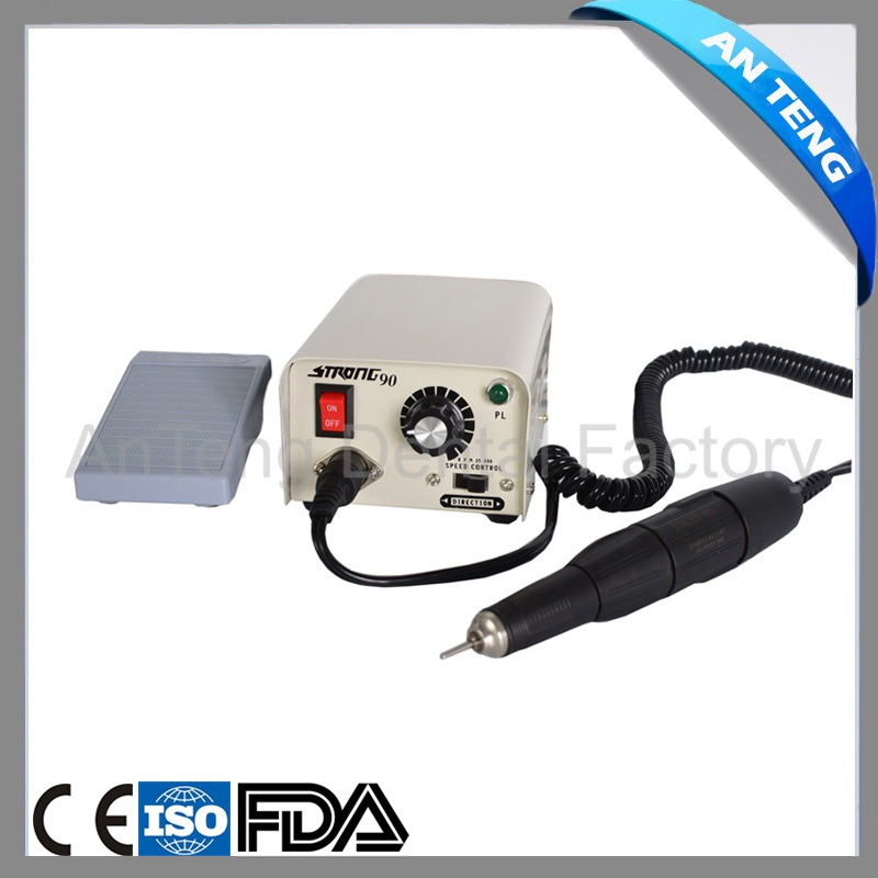 SAESHIN <font><b>Strong</b></font> 90 Micromotor Hand Polishing Polisher Dental Lab equipment 220V 35K rpm with <font><b>102</b></font> Handpiece for jewelry image