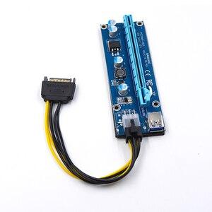 Image 5 - PCI E 1x zu 16x Bergbau Maschine Verbessert Extender Riser Card Adapter mit 60cm USB 3.0 & SATA 4pin IDE molex power Kabel