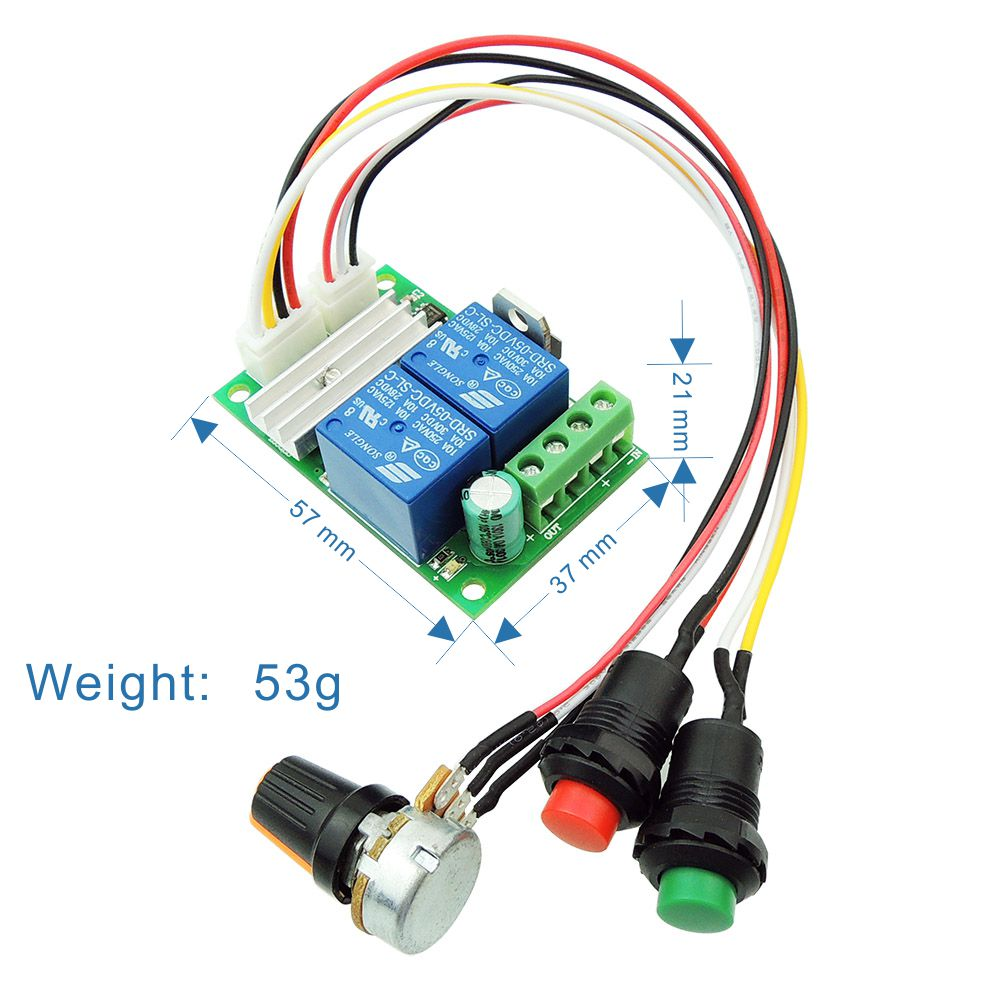 Dc motor speed controller pwm speed adjustable reversible for 12v dc motor controller