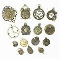 Sweet bell 20 unids de aleación de zinc de bronce antiguo del metal mezclado encantos del reloj colgante para la joyería que hace diy decorativo reloj encantos d1152