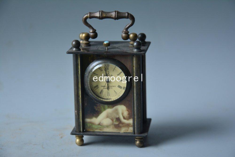 Horloge de beauté de la dynastie Qing | Horloge royale en cuivre, #052, qui fonctionne correctement, conception magnifique, livraison gratuite