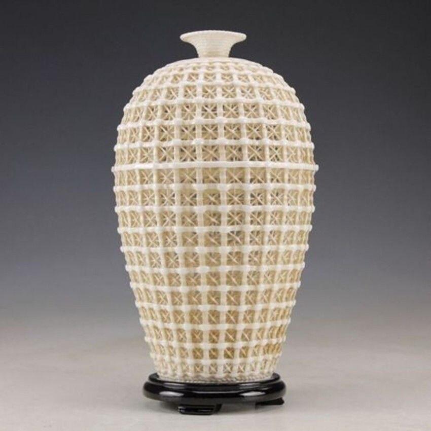 Uitgebreide Vintage handwerk Chinese Dehua porseleinen uitgehold - Huisdecoratie - Foto 3