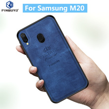 For Samsung Galaxy M20 Original PINWUYO VINTAGE PU Leather Protective Phone Case for Shockproof