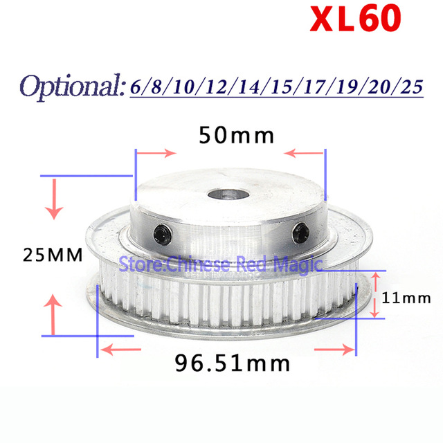 XL60 60 tooth Timing Pulley Aluminum 3D Printer Parts 60XL 60teeth Bore 6/8/10/12/14/15/17mm Width 11mm Synchronous Wheel Gear цена 2017