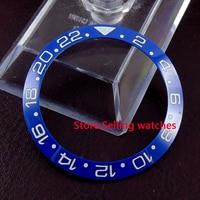 38mm Parnis Blue Ceramic Bezel Insert For 40mm Sub GMT Mens Watch