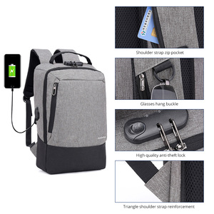 أزياء الرجال 15.6 بوصة usb شحن مكافحة سرقة كمبيوتر محمول للأعمال ظهره أكبر capaticy متعددة الوظائف حقيبة السفر أكياس