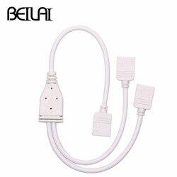 5-контактный разъем RGBW, концентратор от 1 до 2, 3, 4-портовый разветвитель, Женский Удлинительный кабель для светодиодной ленты SMD 5050 RGBW RGBWW