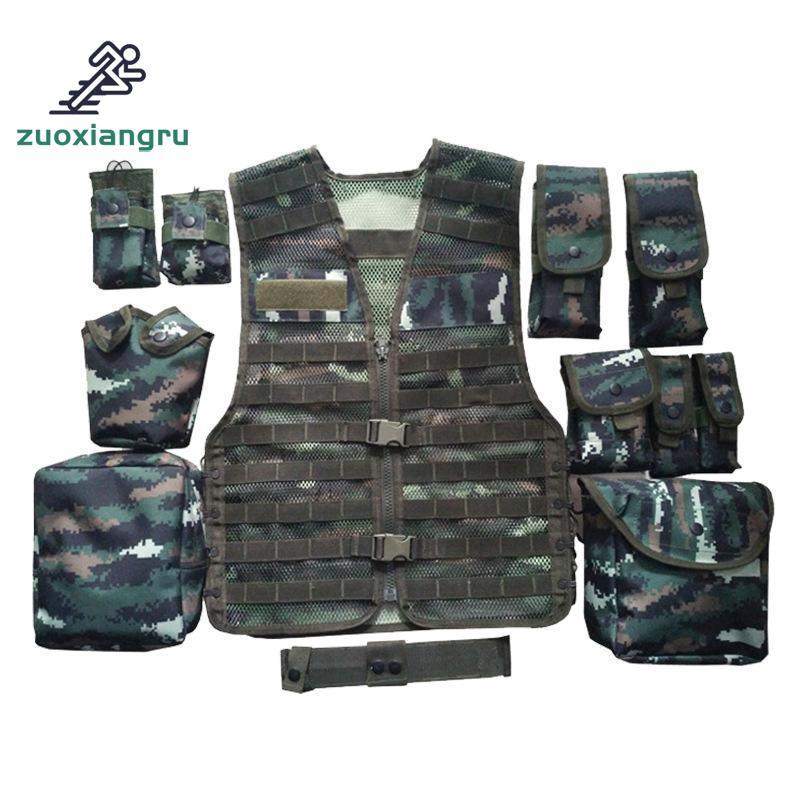 Unloading Men Tactical Hunting Vest Multi pocket Camouflage Mesh Vest Army Combat Uniform Military Law Enforcement