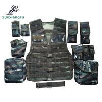 Unloading Men Tactical Hunting Vest Multi pocket Camouflage Mesh Vest Army Combat Uniform Military Law Enforcement Vest