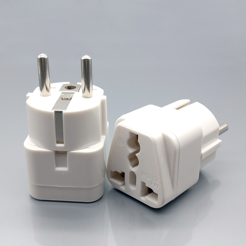 AXAET Universal EU Plug Adapter Travel Socket extension plug electric for UK US CN AU to EU plug AC power Converter White 1pcs