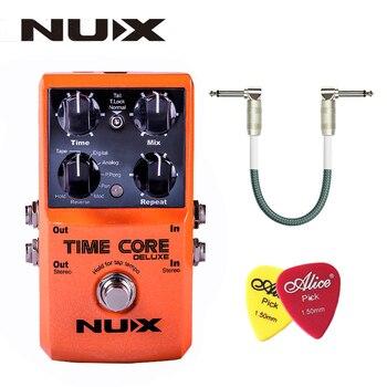 NUX czas rdzenia Deluxe Delay pedał gitara pedał efektów z Looper blokady sygnału True Bypass tryb aktualizacji z pedałem linii i wybiera