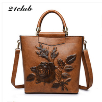 21club brand women embossing floral totes chinese style handbag high quality lady party purse shoulder crossbody messenger bags