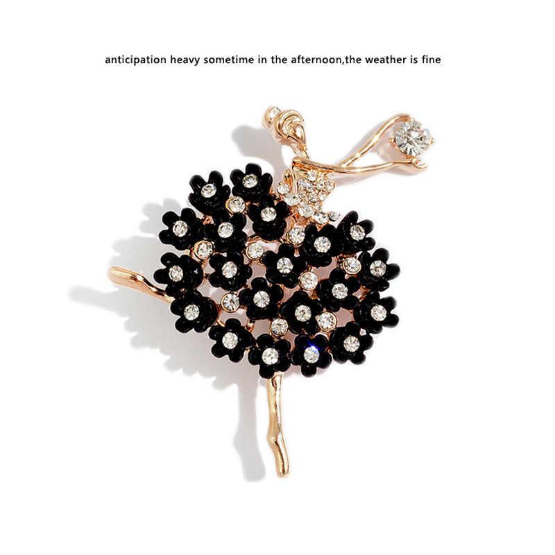 Temperamento Semplice Coreano di Cristallo delle Donne di Ballo Spilla Retro Vestito Decorativo Spille