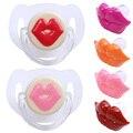 1 PC Bebê Lábios Vermelhos Beijos Chupetas de Silicone Silicone Mamilo Engraçado Joke Prank Criança Dentes Chupetas Chupetas