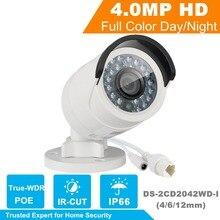 English Version 4MP aparat IP Bullet Aparat Bezpieczeństwa z POE kamera Sieciowa DS-2CD2042WD-I Nadzoru Wideo 4/6/12mm obiektywu