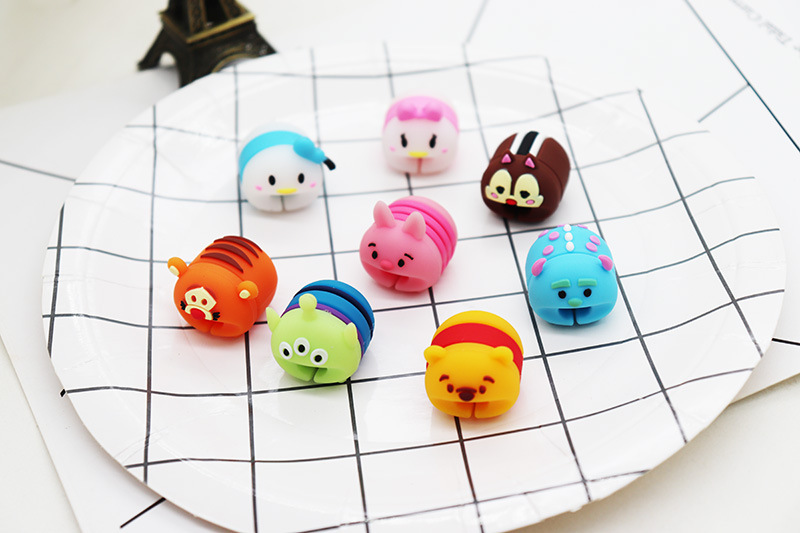 Cute Cable Protector Bite for Universal Android Apple cable Winder Phone holder Accessory Chompers Novelty Cartoon Animal Dolls in Gags Practical Jokes from Toys Hobbies