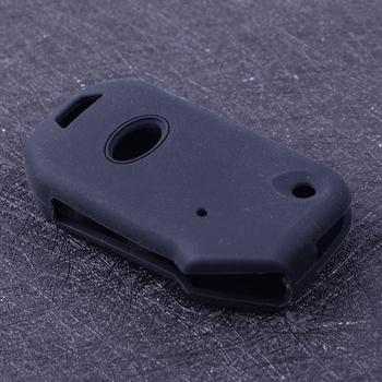 CITALL czarny silikonowy samochód klucz składany Case etui na pilota zdalnego sterowania nadające się do Kia Sportage Ceed Sorento Forte Cerato 2018 2019 tanie i dobre opinie CN (pochodzenie) Żel krzemionkowy Black Silicone approx 7 8x4 5 cm(3 07x1 77 inch) (LxW) for Kia Sportage 2018- up for Kia Ceed 2018-up